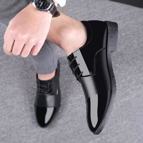 Mazefeng 2019 New Black Men Suit Shoes Party Men's Dress Shoes Italian Leather Lace-Up Formal Shoes Men Office Social Masculino - World Amazing Fashion
