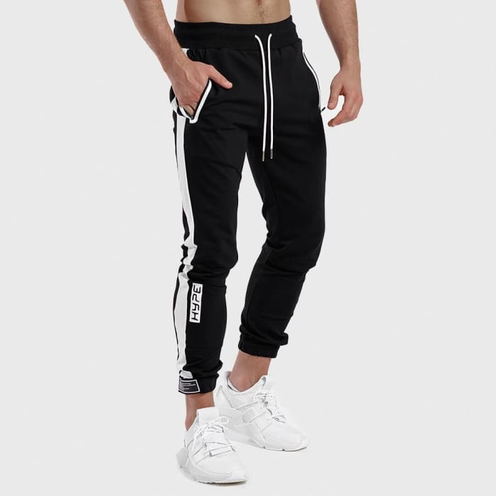 Men Pants Sweatpants Velcro Ankle Fashion Casual Sweat