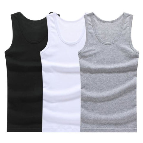 Our Hot Sale 3Pcs of Solid Muscle Tank Tops For Men | World Amazing Fashion - World Amazing Fashion