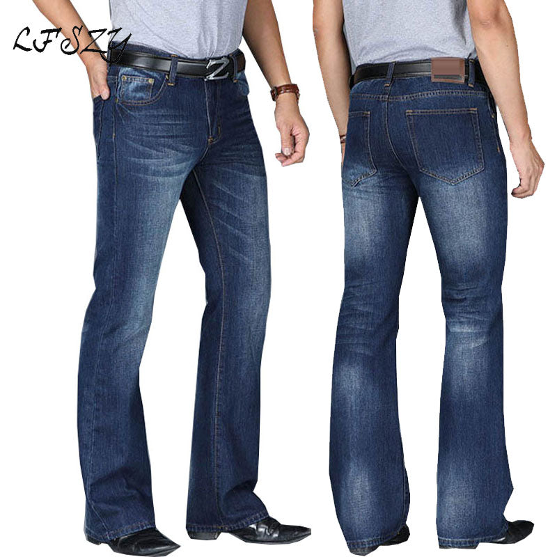 Boot Cut Casual Classic Denim Jeans For Men | World Amazing Fashion