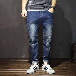 Ripped Denim Jeans Dark Blue  Cotton For Men | World Amazing Fashion