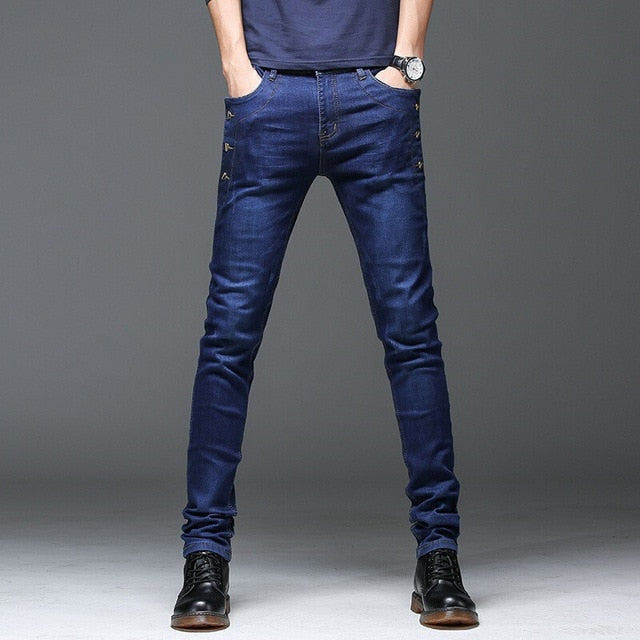 Skinny Classic Slim Fit Denim Jeans For Men | World Amazing Fashion | World Amazing Fashion