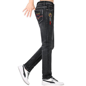 Zipper Fly Dark Gray Denim Casual Jeans For Men | World Amazing Fashion