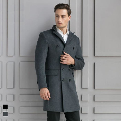 Shop For a Slim Long Wool Business Casual Coat | World Amazing Fashion - World Amazing Fashion