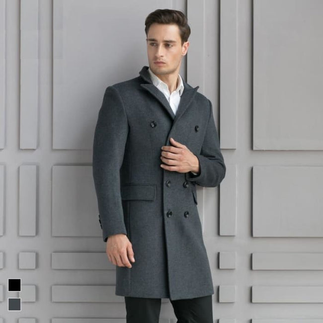 Shop For a Slim Long Wool Business Casual Coat | World
