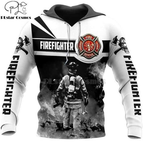 Shop For Our Firefighter Casual Tracksuit Print Hoodie | World Amazing Fashion - World Amazing Fashion