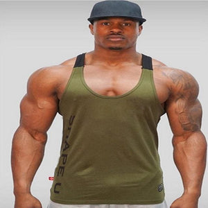 Summer New Hot Bodybuilding Fitness Singlets Muscle Vest For