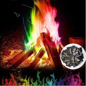 ColoredFlames™- Colorful Flame for Indoor and Outdoors [Pack of 3]