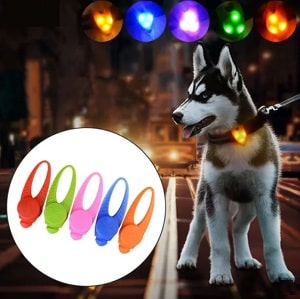 PetBright™- LED Safety Pendant Necklace Flashing Glow Light Night Light Blinking Collar Pendant For Pets
