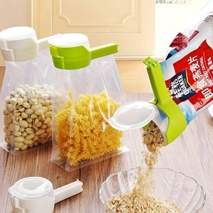 Pour&Seal™- Food Storage Bag Sealing Clip [Pack of 3]