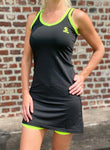Softee Dress Black/ Fluo Yellow