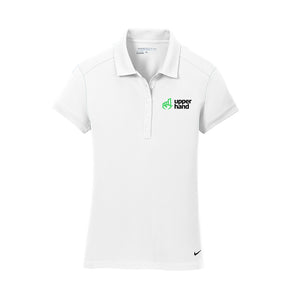 Nike Ladies Dri-FIT Solid Icon Pique Modern Fit Polo - Upper Hand Left Chest