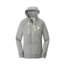 Load image into Gallery viewer, New Era Ladies Sueded Cotton Blend Full-Zip Hoodie