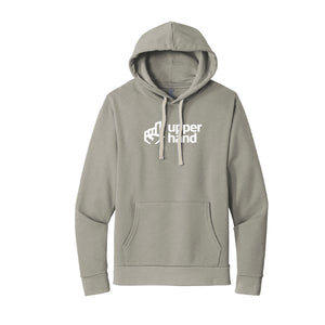 Next Level Unisex Beach Fleece Pullover Hoodie - Lead/ Light Gray