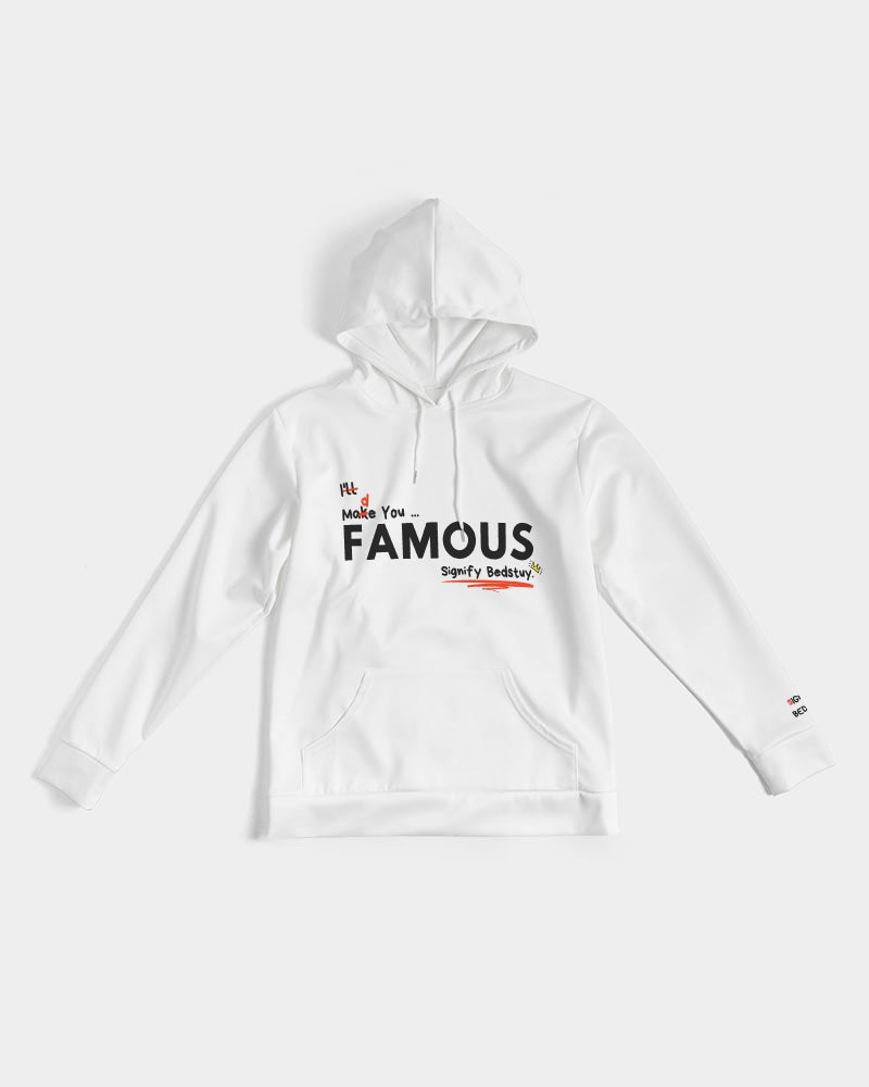 """Famous"" Graphic Hoodie (White)"