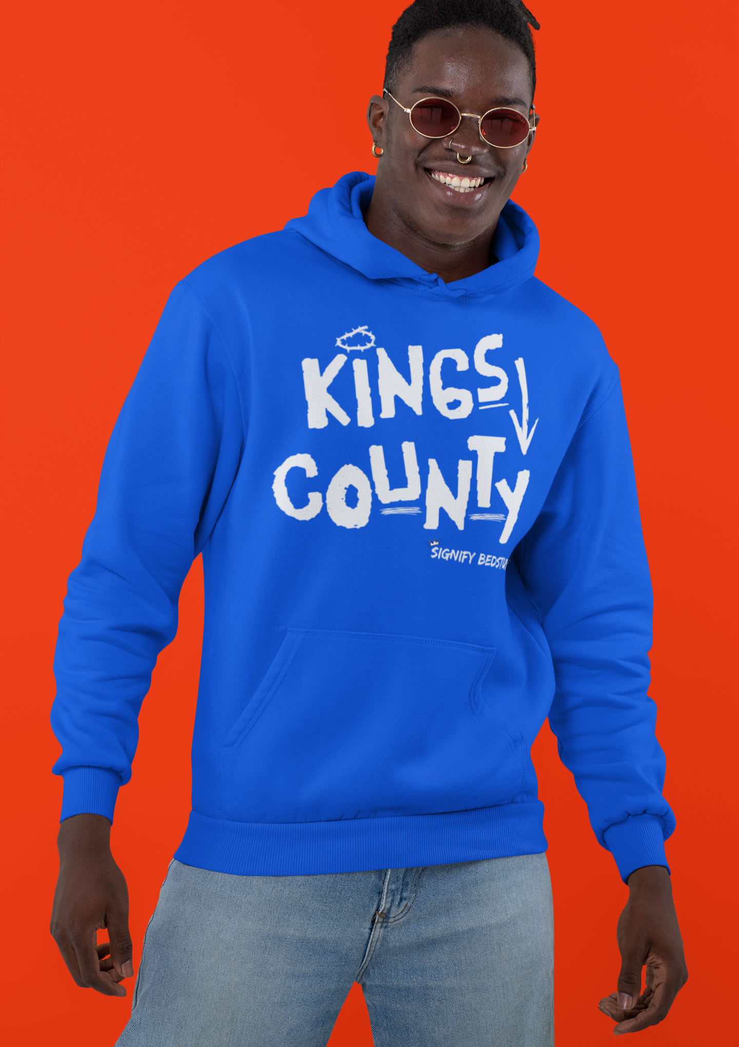 Kings County Graphic Hoodie (Royal Blue)