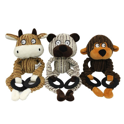 Animal Shape Pet Dog Squeaky Toys for Small Dogs