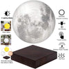 NEW Design Creative 3D Magnetic Levitation Moon Lamp Night Light Rotating Led Moon Floating Lamp Home Decoration Holiday