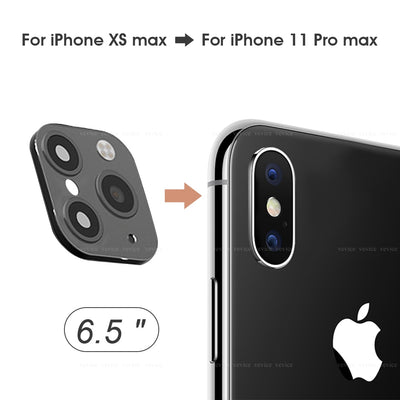 【Buy 1 Get 1 Free Cover Case】for IPhone XS Max Seconds Change for IPhone 11 Pro Max (Black)