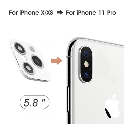 【Buy 1 Get 1 Free Cover Case】for IPhone X XS Seconds Change for IPhone 11 Pro (Silver)