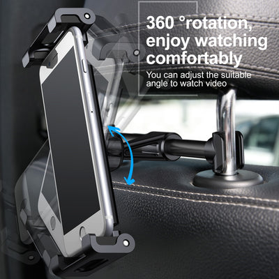 Car Back Seat Headrest Holder for 4.7-12.9inch Pad Car Phone Holder Backseat Mount for Pad Tablet PC Auto Headrest Holder