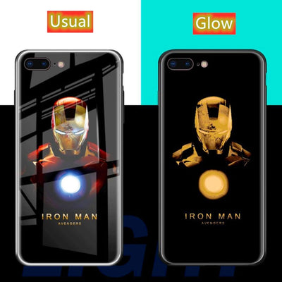 Luxury Smart Flash Tempered Glass Phone Cover for IPhone