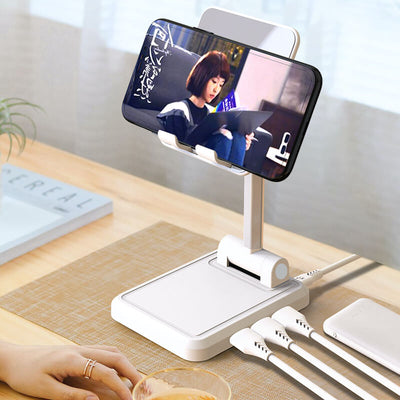 2 in 1 Desktop Holder Charging Dock Aluminium Alloy Rotation Tablet Stand Holder