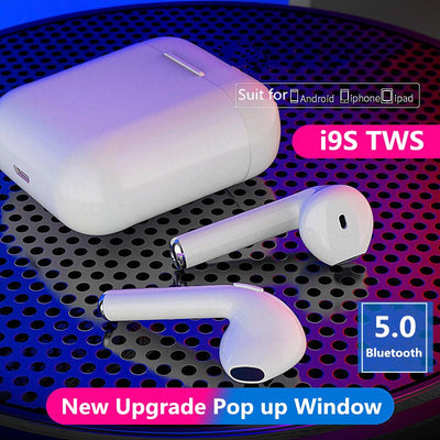 i9s Tws Bluetooth Earphone Mini Earbuds Headphone Wireless  With Mic