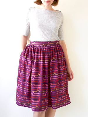 CLEO SKIRT SEWING PROJECT KIT with ORGANIC QUILTING COTTON