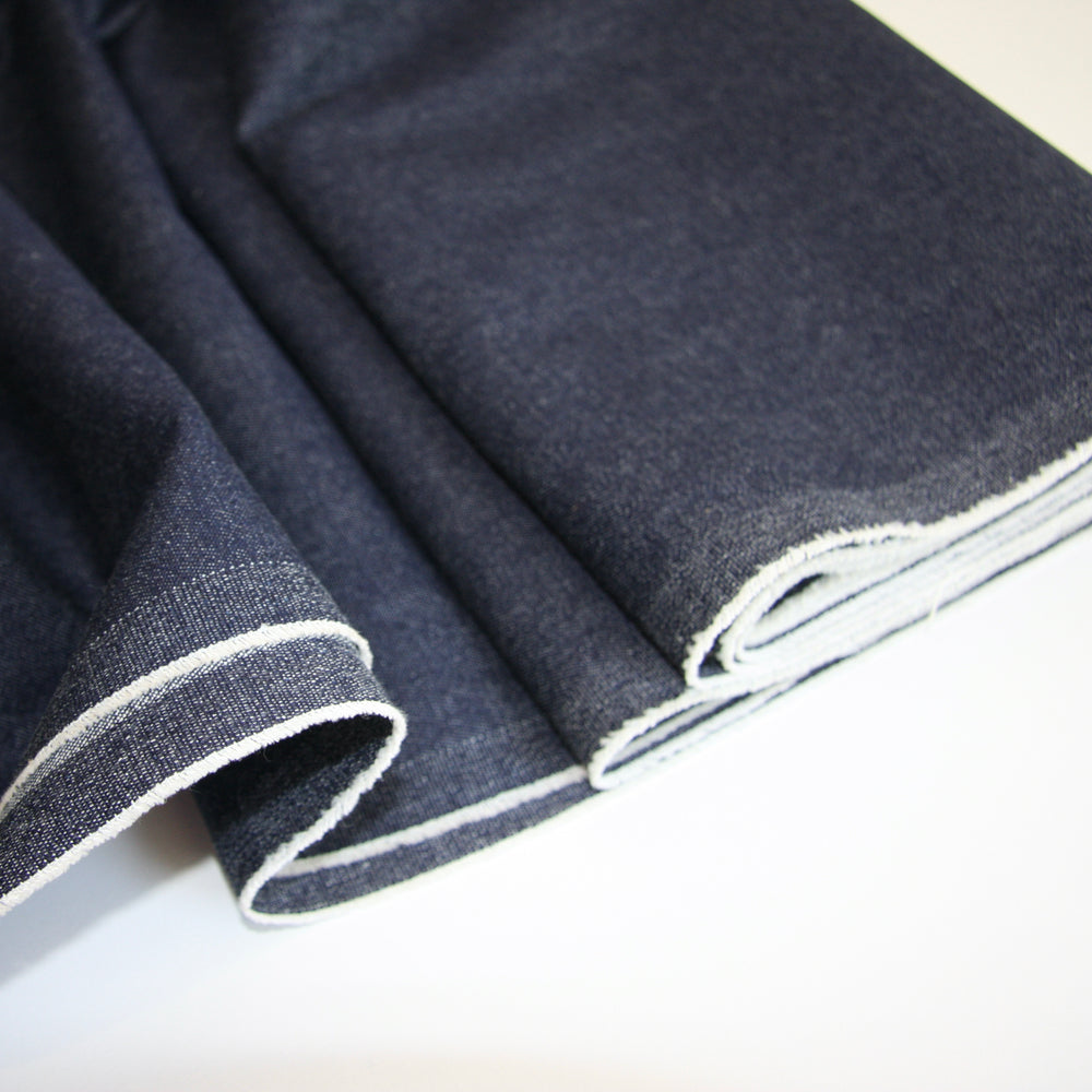 JAPANESE YARN DYED STRETCH DENIM 9.5oz • Classic Blue • $46.00/metre