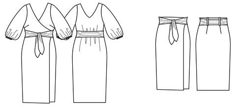 Load image into Gallery viewer, AURA DRESS/SKIRT • Pattern