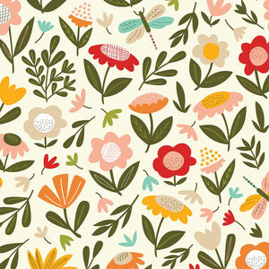 Load image into Gallery viewer, COTTON POPLIN •  BECK NG MEADOW • White $27.00/metre