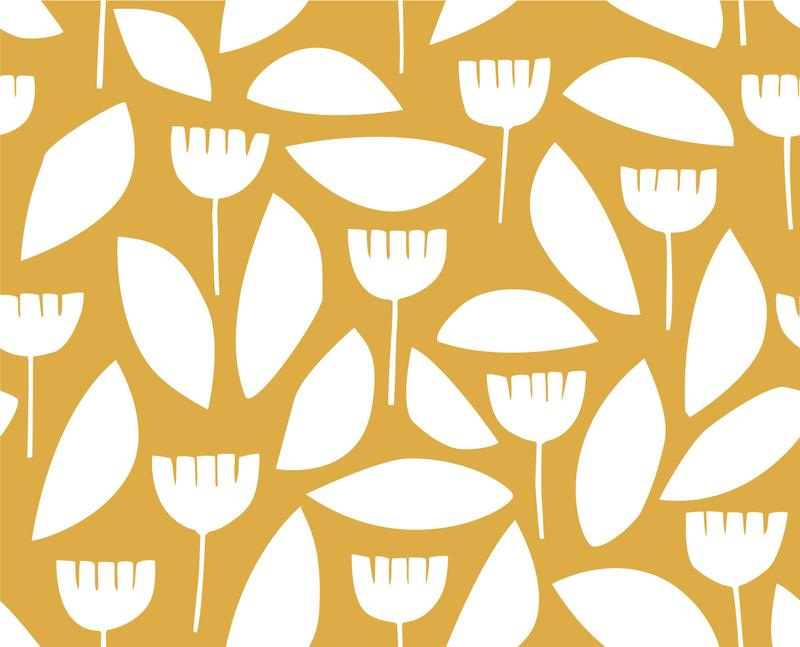 Load image into Gallery viewer, COTTON POPLIN •  MYRIUM VAN NESTE • SCANDI FLORALS • Mustard $27.00/metre