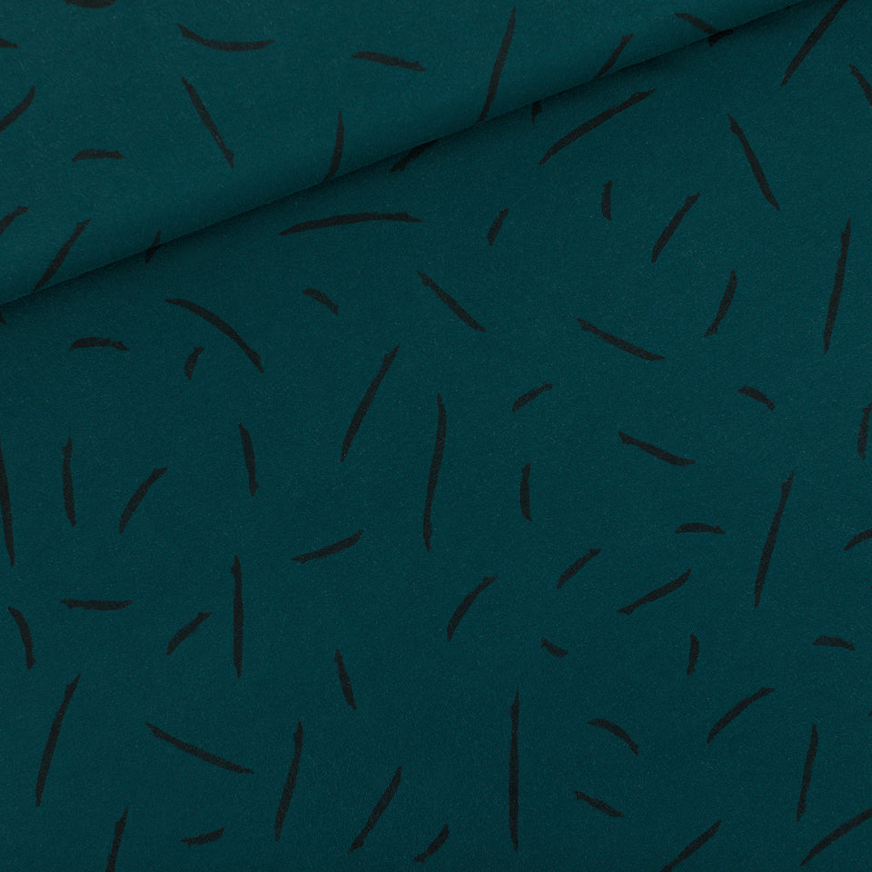 FRENCH TERRY • STRIKES • Ponderosa Green $40.00/metre