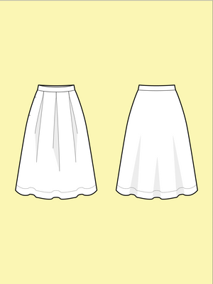 Load image into Gallery viewer, THREE PLEAT SKIRT • Pattern