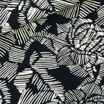 FRENCH TERRY • WINTER ROSE • Black $40.00/metre