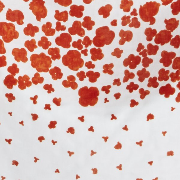 Load image into Gallery viewer, DOUBLE GAUZE • NANI IRO • COOING • Red on White $32.00/metre