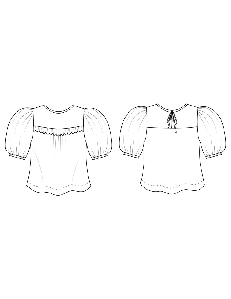 Load image into Gallery viewer, THE SAGEBRUSH TOP • Pattern