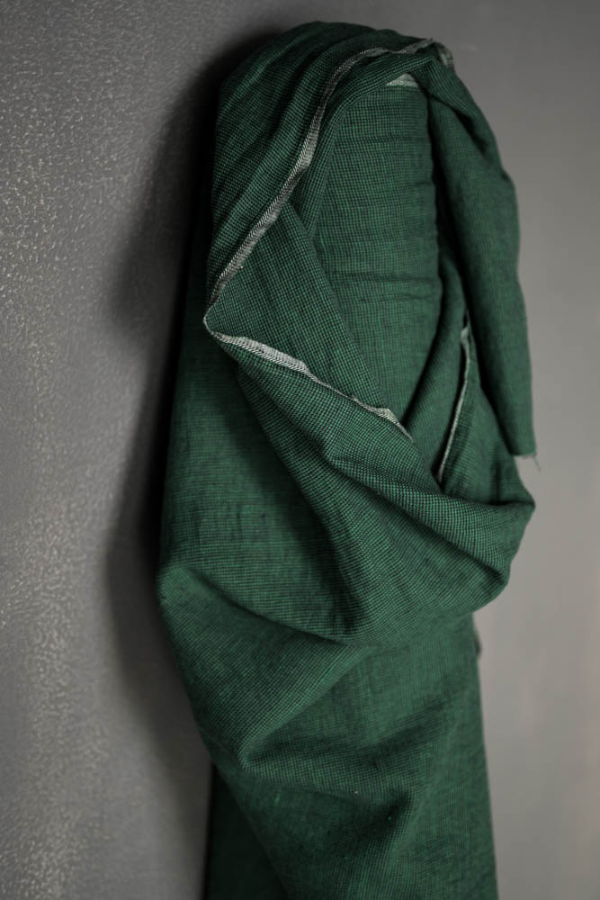 LINEN/COTTON BLEND 180gsm • Emerald Black $68.00/metre