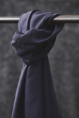 Smooth drape twill tencel Blueberry