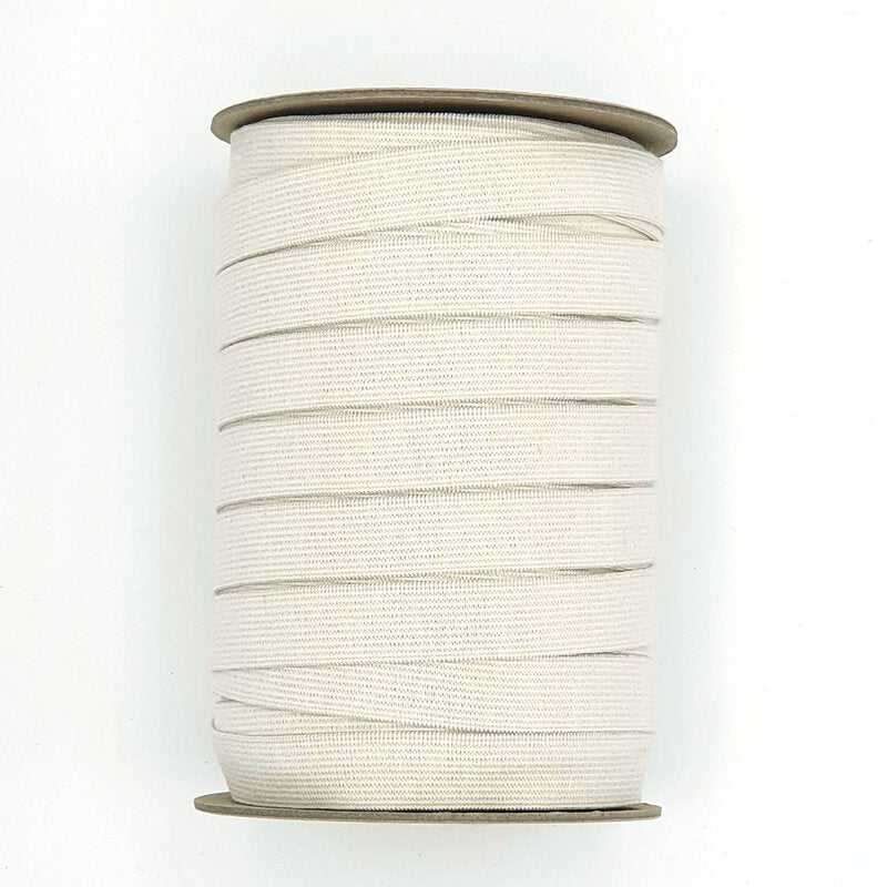 ORGANIC COTTON ELASTIC • LIGHT STRETCH • Natural Un-dyed 18mm