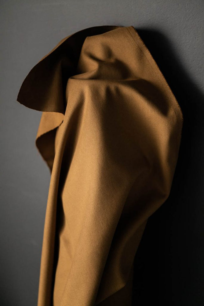 ORGANIC COTTON TWILL 410gsm • Stanley Tan $54.00/metre