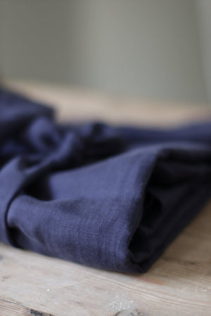 Load image into Gallery viewer, SLUB LINEN BLEND • TENCEL™ fibres• Blueberry $45.00/metre