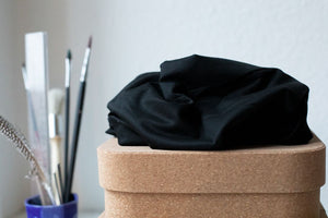Load image into Gallery viewer, BASIC STRETCH JERSEY • TENCEL™ fibres • Black $37.00/metre