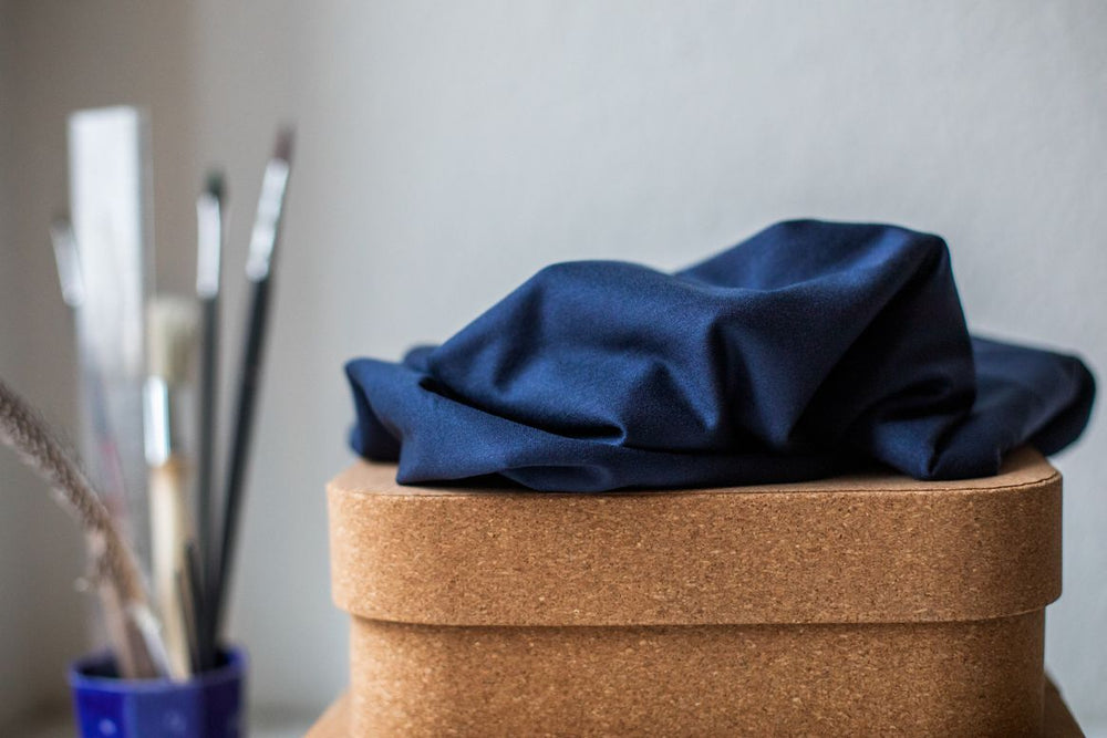 BASIC STRETCH JERSEY • TENCEL™ fibres • Blueberry $37.00/metre
