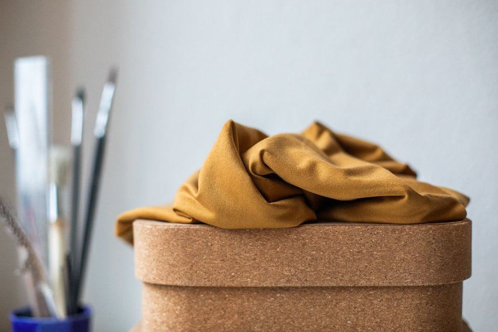 BASIC STRETCH JERSEY • TENCEL™ fibres • Mustard $37.00/metre