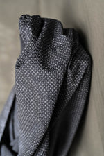 COTTON SEERSUCKER • TOTTORRI CROSS • Black $54.00/metre