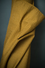 COTTON SEERSUCKER • TOTTORRI CROSS • Mustard $54.00/metre