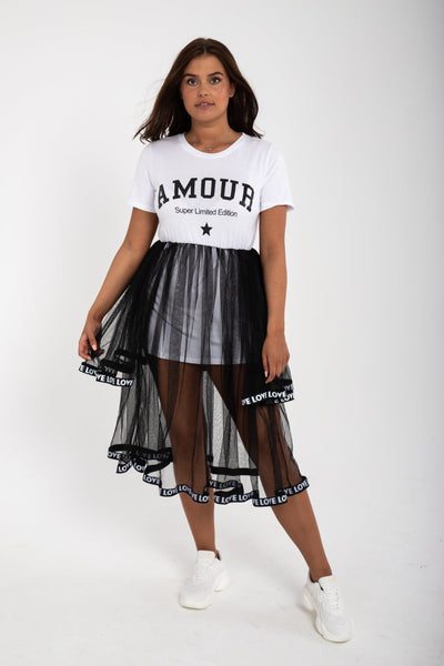 Amour Skirt Dress - Funky Fuchsia