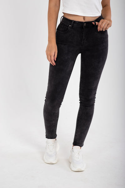 Dark Super Stretch Skinny Jeans - Funky Fuchsia